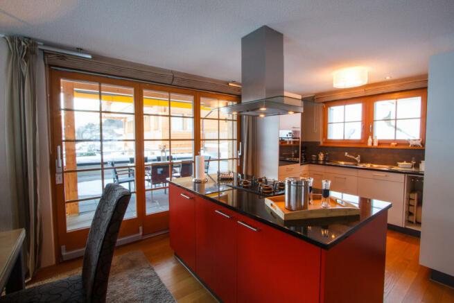 Kitchen dining room open island Chalet Im Maad Verbier