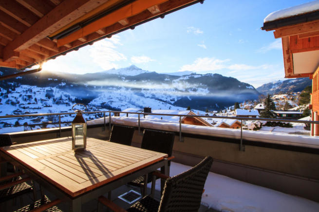 Balcony view Chalet Im Maad Verbier