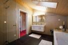 Bathroom shower bath tub twin sink stone floor Chalet Im Maad Verbier