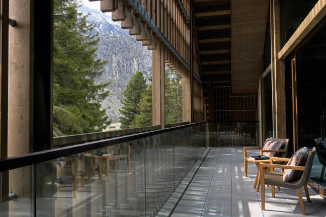Balcony Andermatt Chedi Residences