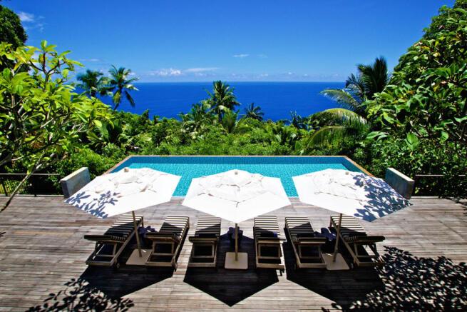 Ocean sea view sun terrace Four Seasons Seychelles