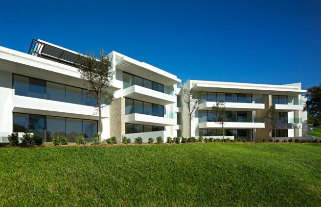 Garden facade La Selva Apartments PGA Catalunya Girona