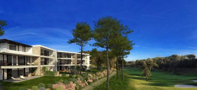 Golf course facade La Selva Apartments PGA Catalunya Girona