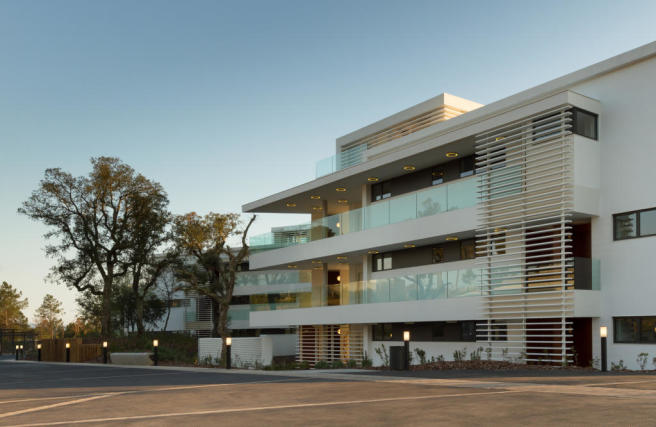 Parking facade entrance La Selva Apartments PGA Catalunya Girona