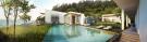 Infinity edge swimming pool rear facade garden Alila Villas Koh Russey Cambodia