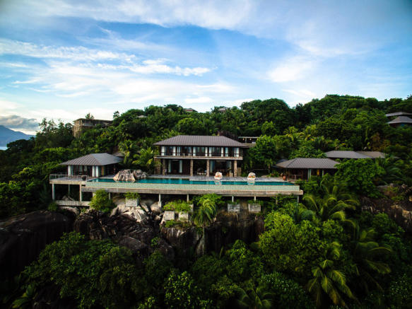 Kokomo elevation view by drone