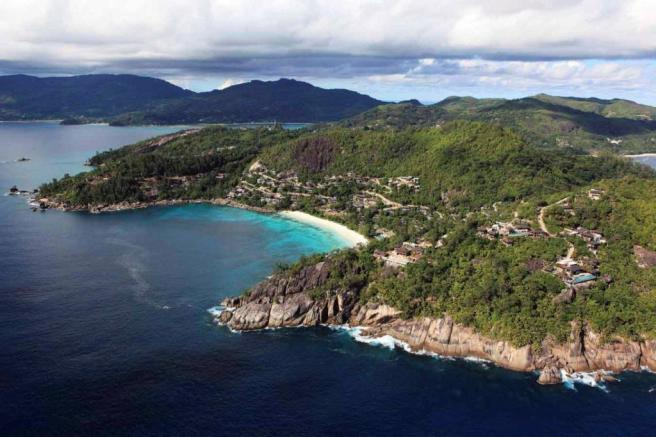 Aerial Kokomo at Four Seasons Seychelles