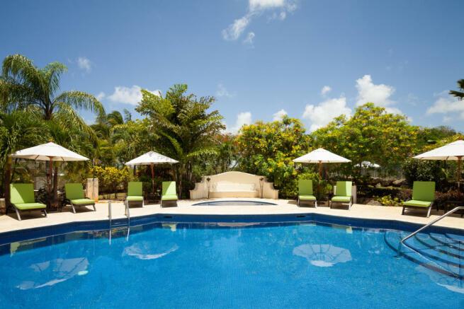 Swimming pool sun terrace Battaleys Mews St Peter Barbados