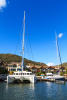 Catamaran and yacht berths at La Balise Marina in Mauritius