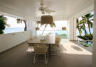 Dining room sliding doors ocean sea view outdoor Footprints Barbados