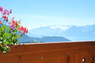 Mountain views over balcony at Chalet Alina