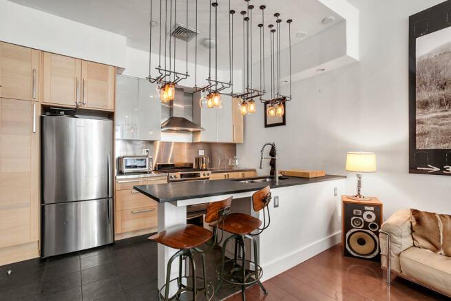 Kitchen at 550 Grand Street in Brooklyn, New York