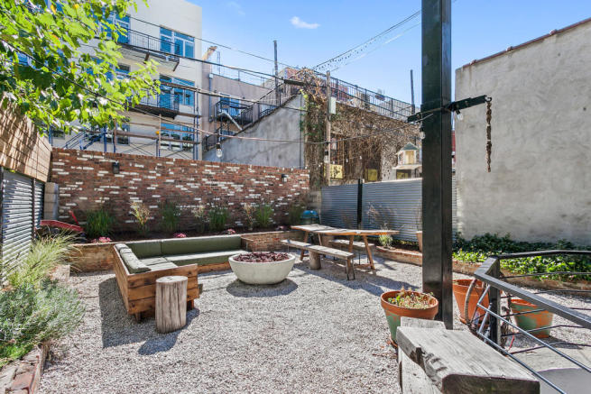 Backyard at daytime at 550 Grand Street in Brooklyn, New York