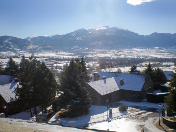 View of Chalet Andorra in the snow
