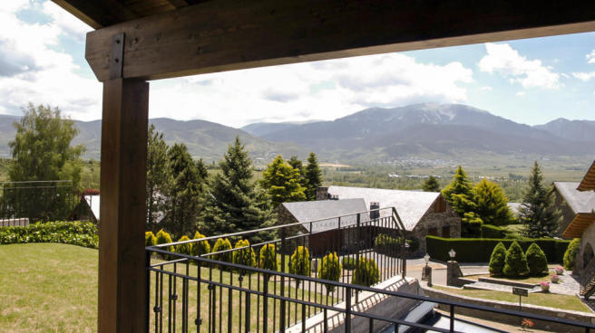 Mountain view from terrace of Chalet Andorra