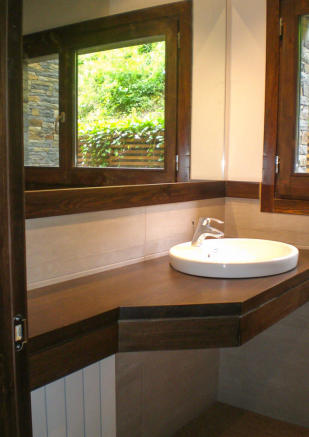 Bathroom basin area at Chalet Andorra