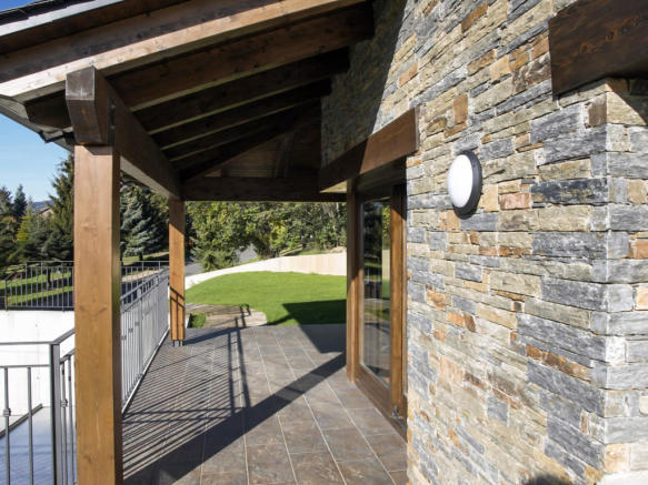 Terrace and garden at Chalet Andorra
