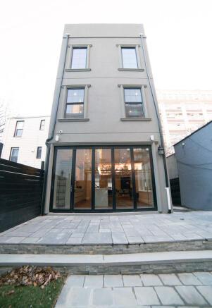 173 Concord Street - Rear Facade and garden terrace