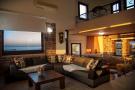 Living room with mezzanine level