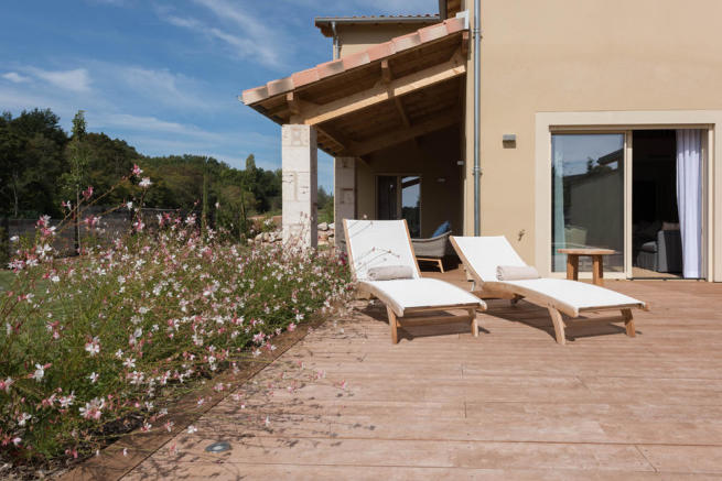 South terrace half villa