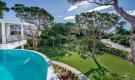 Infinity pool overlooking garden