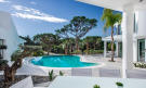 Terrace and pool overlooking garden