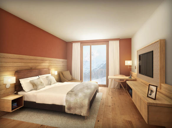 Large double bedroom with balcony