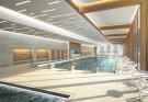 Indoor swimming pool at the Gotthard Residences