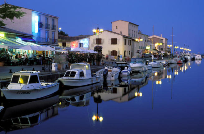 Marseillan port at dusk