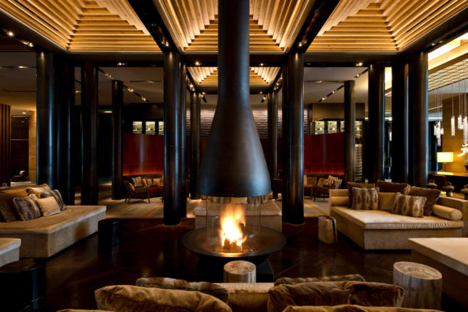 The Chedi Andermatt Hotel lobby lounge