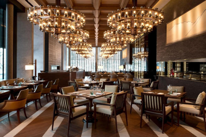 The Restaurant - Main Dining at The Chedi Andermatt Hotel