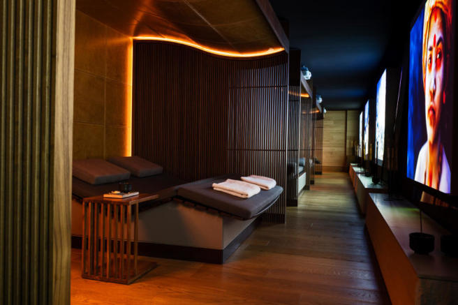 The Chedi Andermatt Hotel Spa Fitness - Relaxation Lounge
