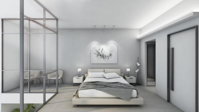 Modern style Duplex Bedroom at The Terrases