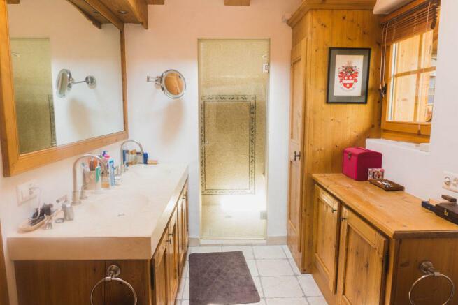 Bathroom with twin basins