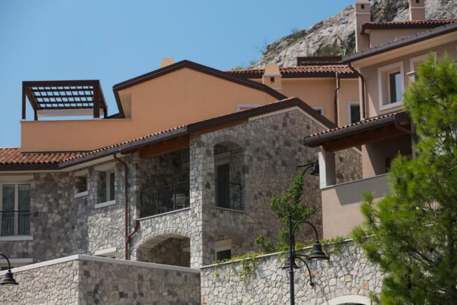Borgo with road tunnel access at Portopiccolo