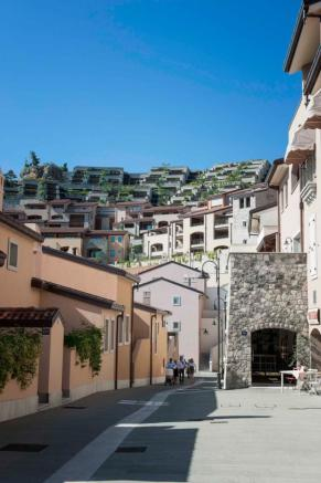 View of Borgo from terrace at Portopiccolo