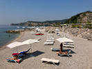 Portopiccolo Beach Club with pool and sun loungers