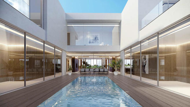 Anahita Mauritius - Villa Horizon model 3 - Night view