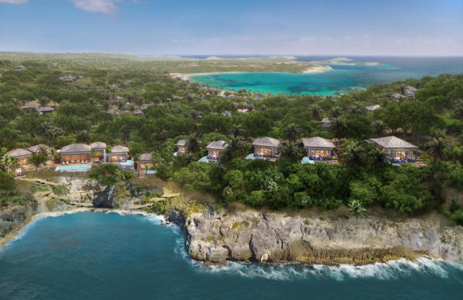CGI of Presidential Villa and Cliff Suites