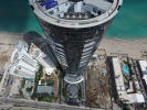 Porsche Design Tower in Miami - aerial view building from land