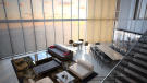 Penthouse living area at the Porsche Design Tower in Miami