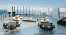 Penthouse roof terrace at the Porsche Design Tower in Miami