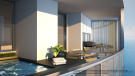 Penthouse terrace at the Porsche Design Tower in Miami