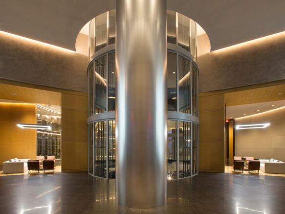 Porsche Design Tower in Miami - reception lobby 1