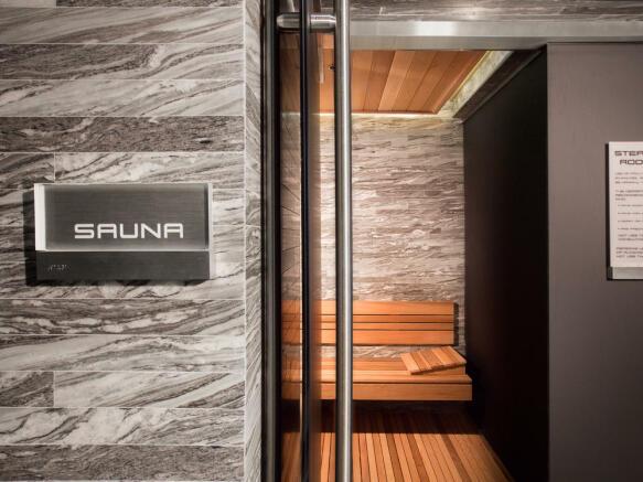 Porsche Design Tower in Miami - spa sauna