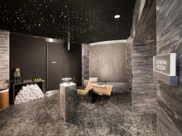 Porsche Design Tower in Miami - spa steam room 2