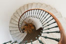 Château Capitoul spiral staircase in current state