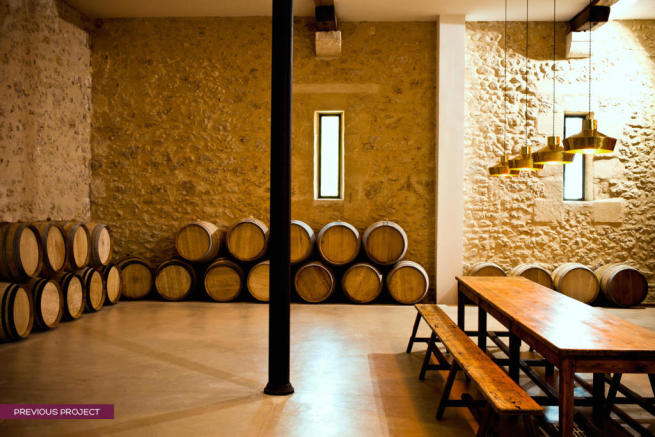 Wine vault at previous project