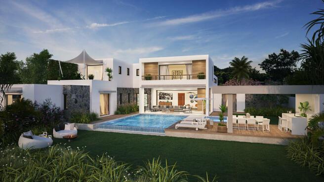 Arokaria Luxury Villa for sale Mauritius Garden