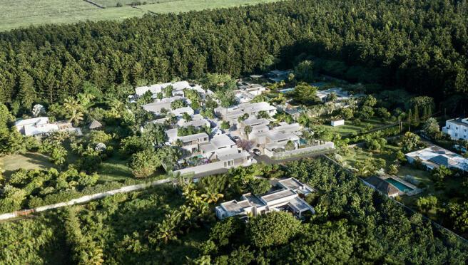 Arokaria Luxury Villas Mauritius Aerial